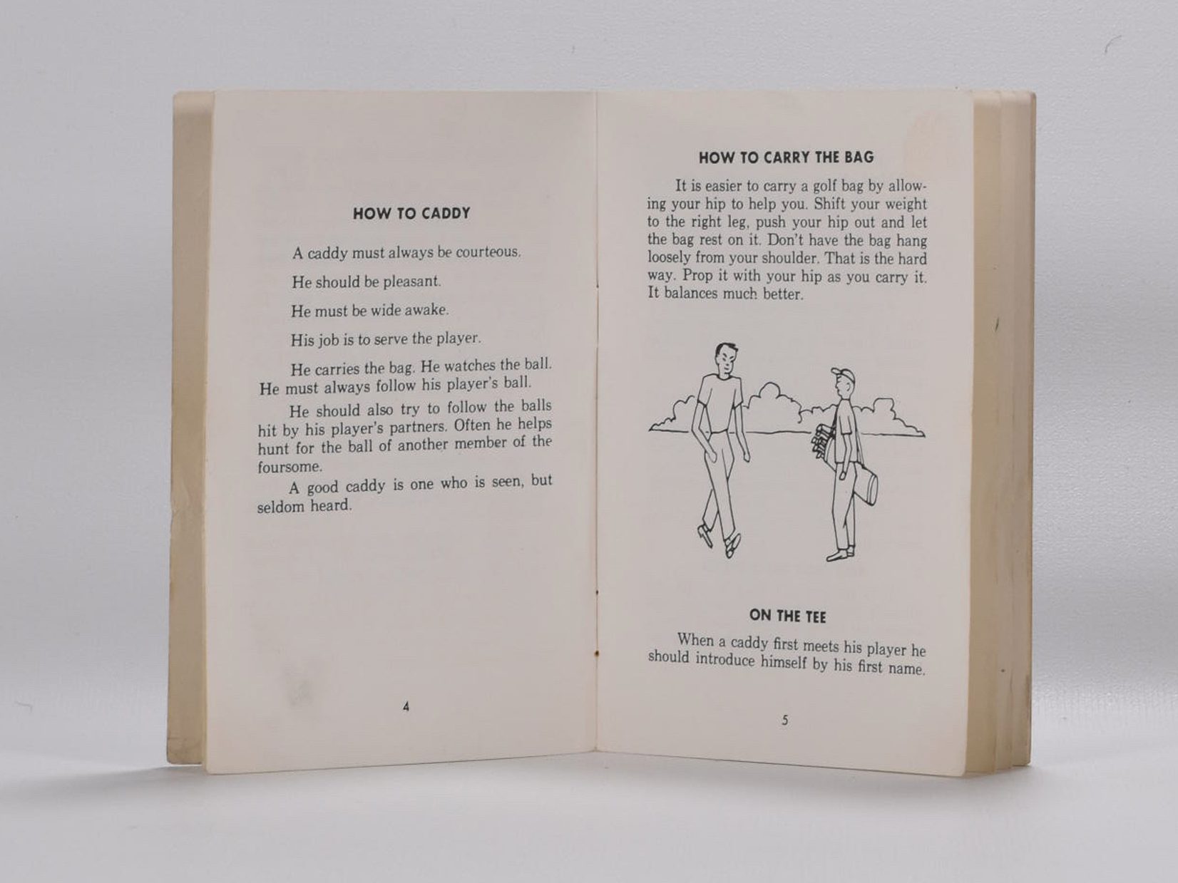 How to be a Good Caddy on Fine Golf Books