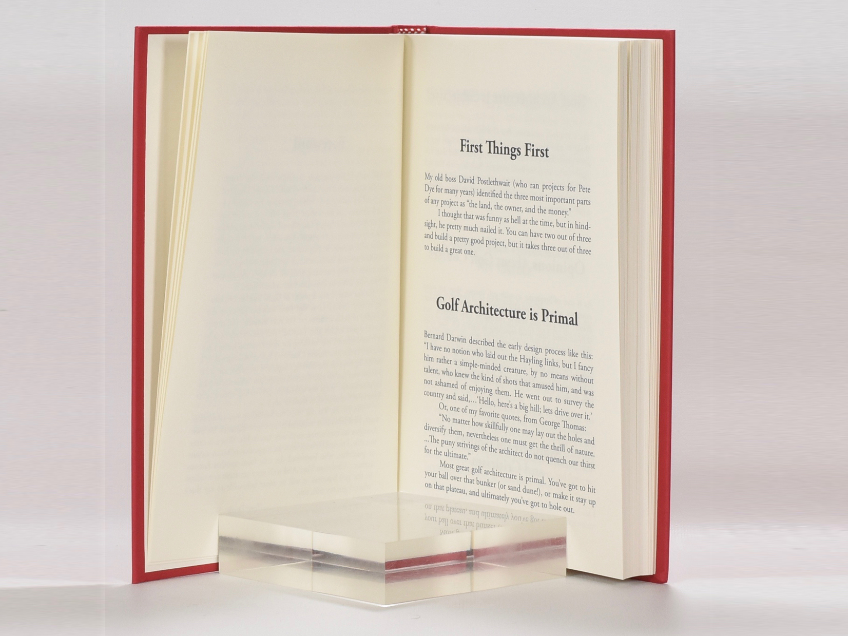 Tom Doak's Little Red Book of Golf Course Architecture by Tom Doak on Fine  Golf Books