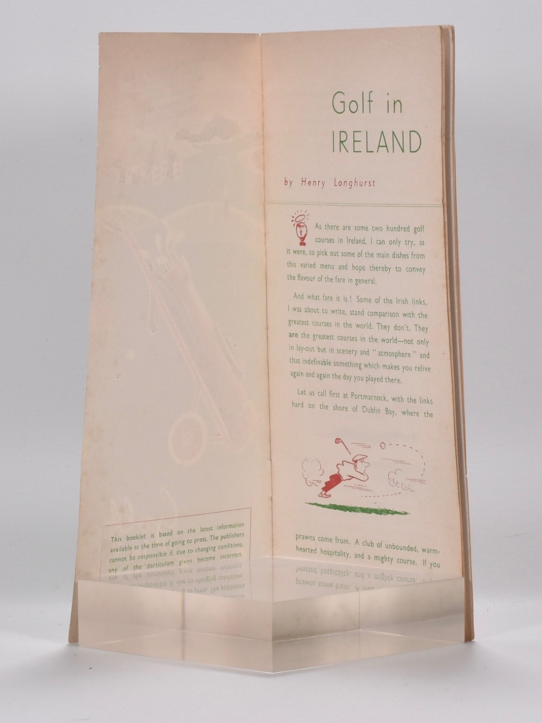 Golf in Ireland by Henry Longhurst on Fine Golf Books