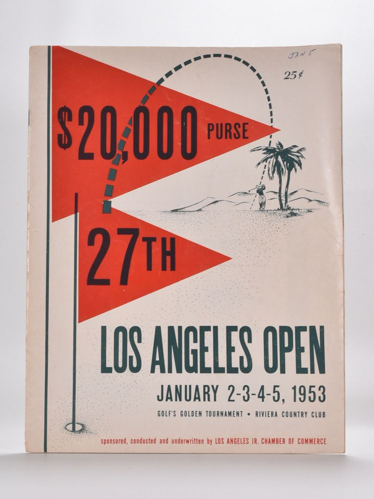 "Los Angeles Open ""official program"" 1953."