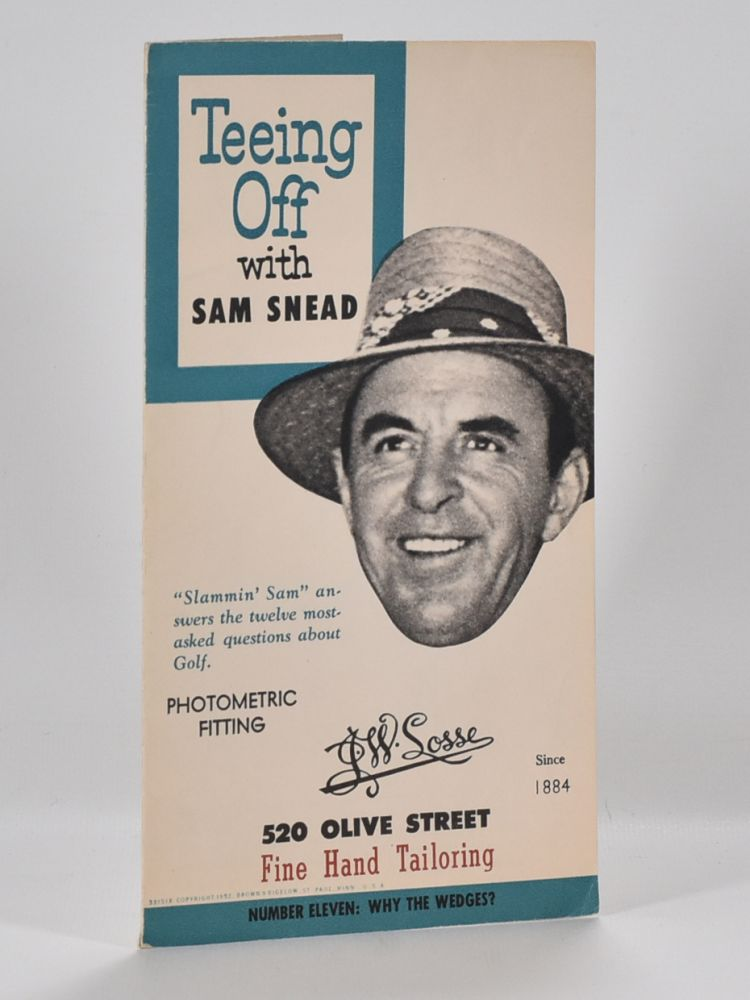 Teeing Off with Sam Snead. Sam Snead.