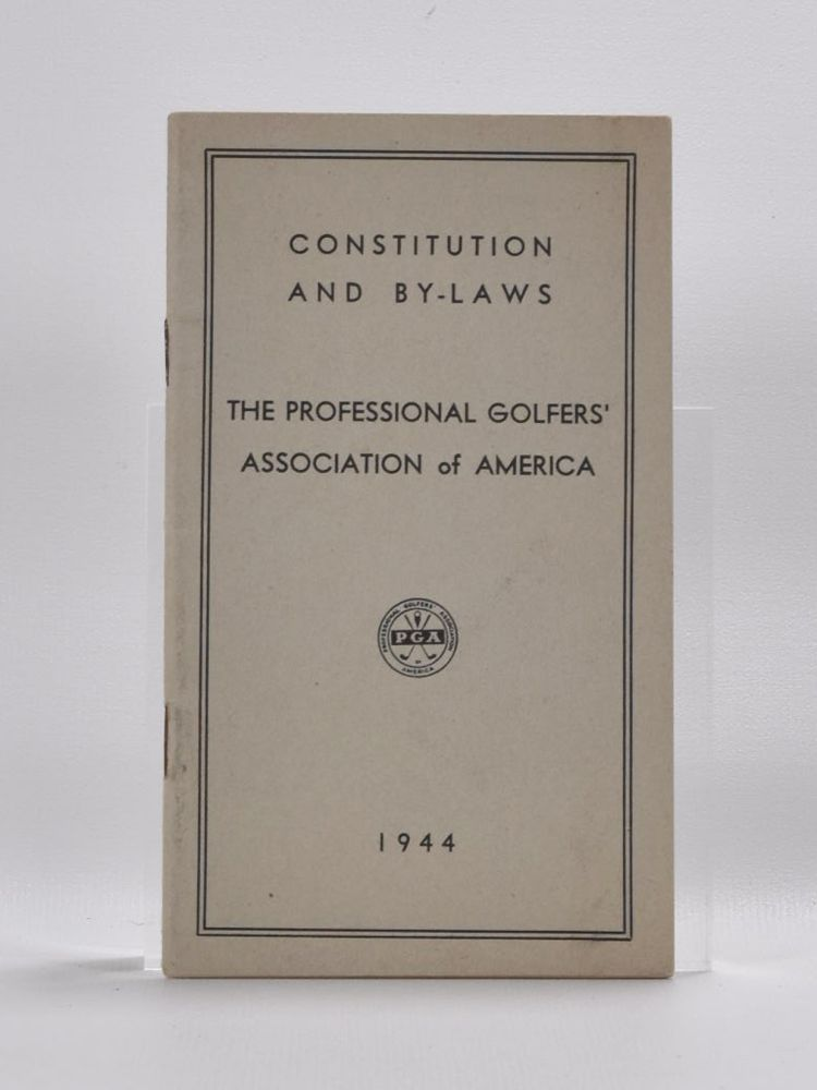 Constitution and By Laws. Professional Golfers Association of America.