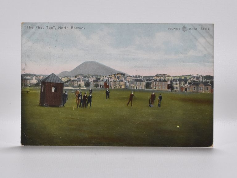 """The First Tee"" North Berwick R1437. Postcard."
