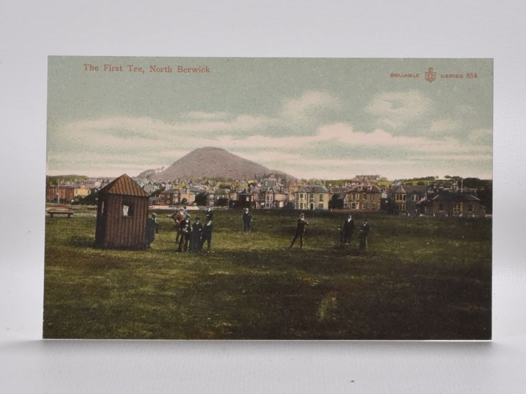 The First Tee, North Berwick 854. Postcard.