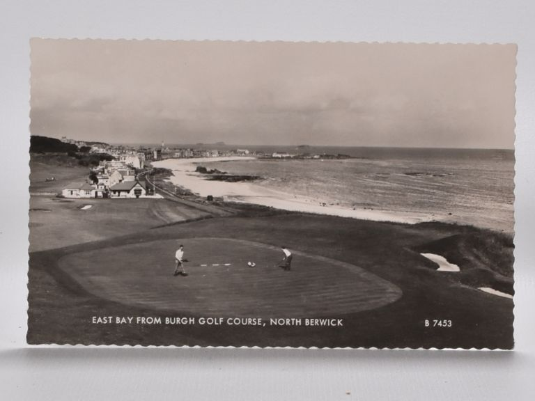 East Bay Burgh Golf Course, North Berwick 7453. Postcard.