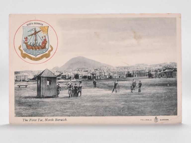 The First Tee, North Berwick. Postcard.