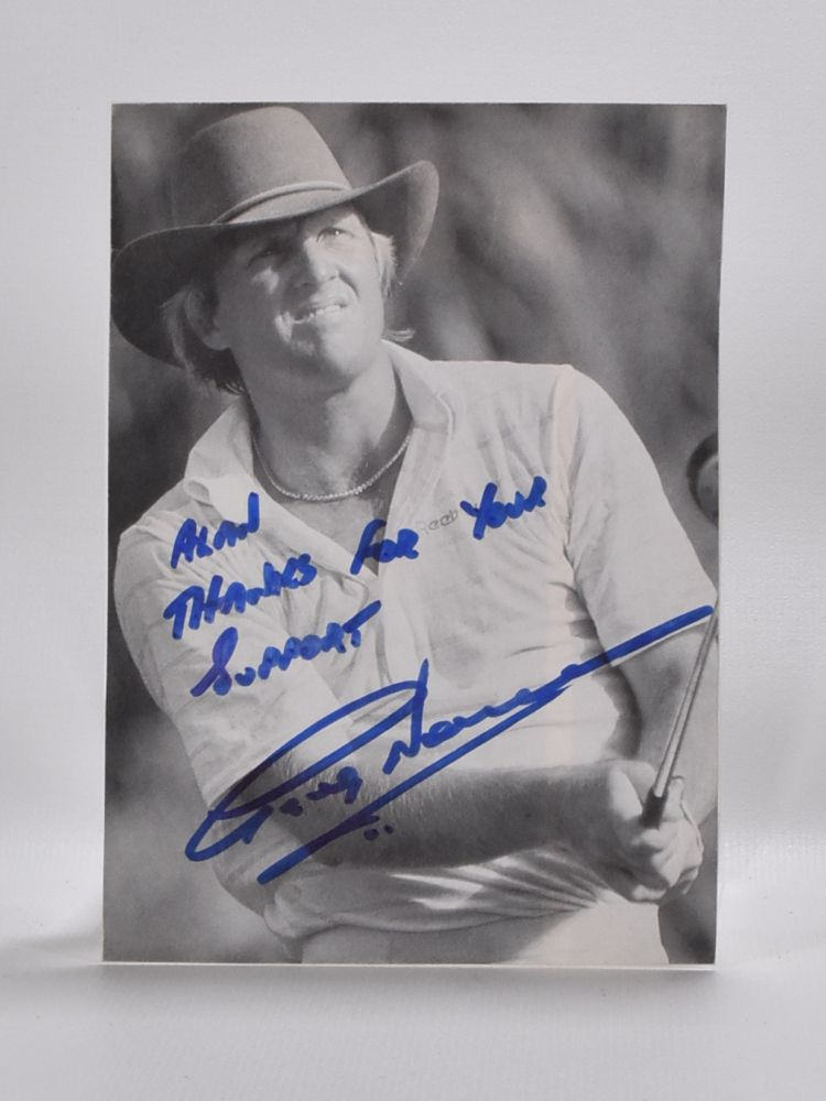 Photograph signed. Greg Norman.