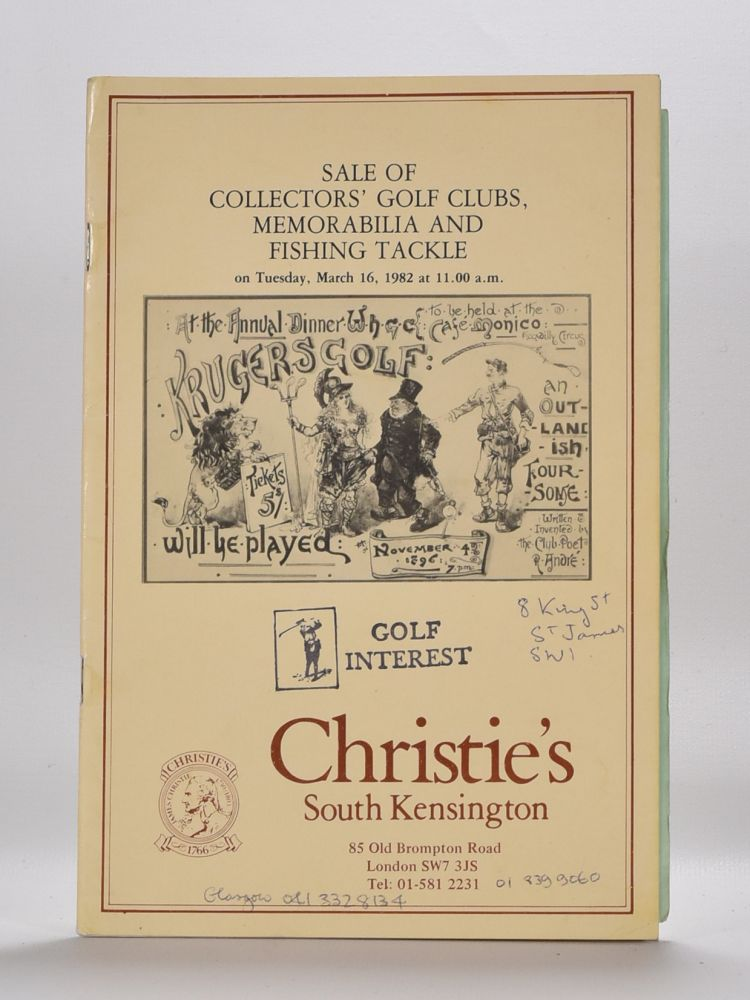 Christies Golf Memorabilia 1982. Christies.
