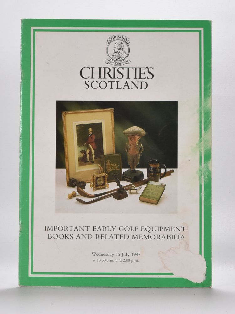 Christies Golf Memorabilia 1987. Christies.