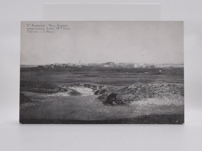 St. Andrews Hell Bunker Aproaching Long 14th Hole 516YDS (5 Hole). Postcard.