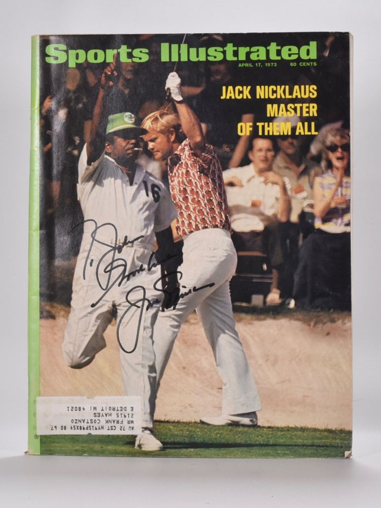 """Nicklaus. Jack """"Sports Illustrated"""" cover Nicklaus."""