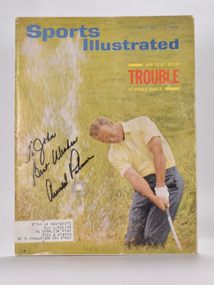 """Palmer. Arnold """"Sports Illustrated"""" cover Palmer."""