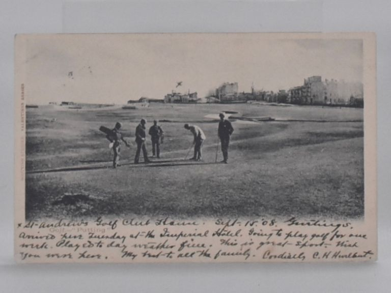 "St. Andrews ""Golf Putting"" Postcard."
