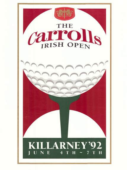 Irish Open 1992. Poster.