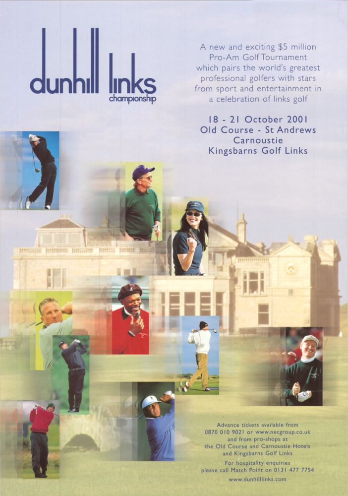 Dunhill Cup 2001. Poster.