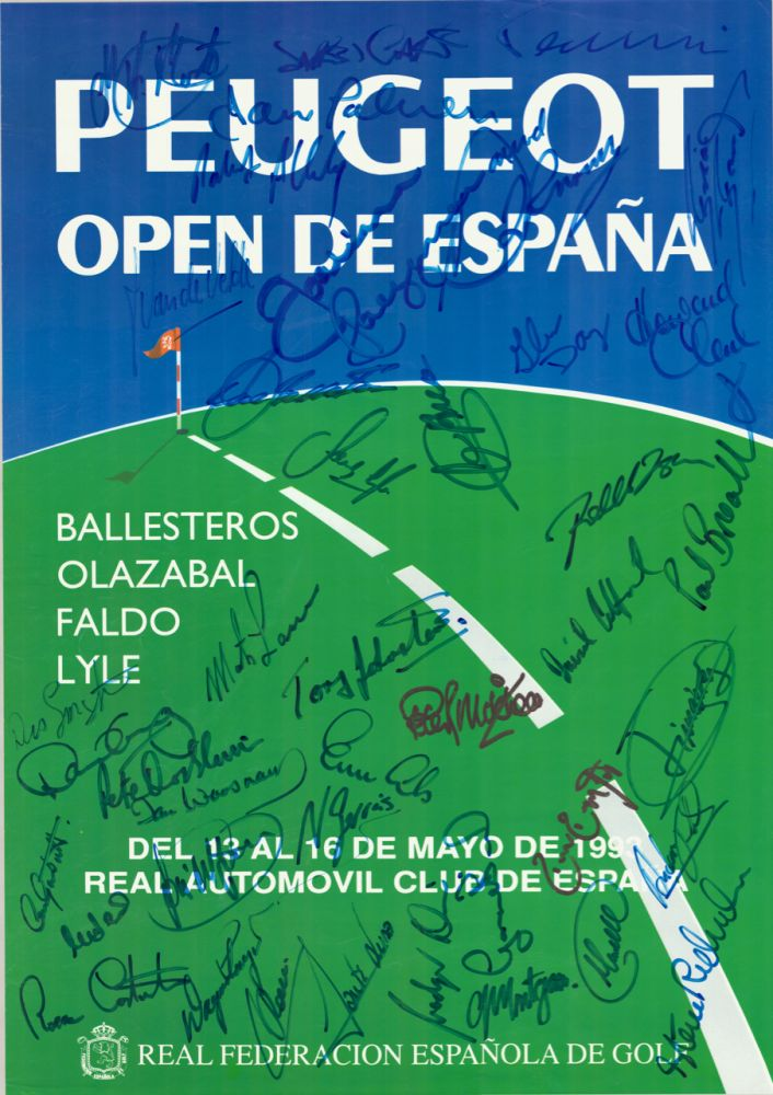 Spanish Open 1993 by Peugot. Poster.