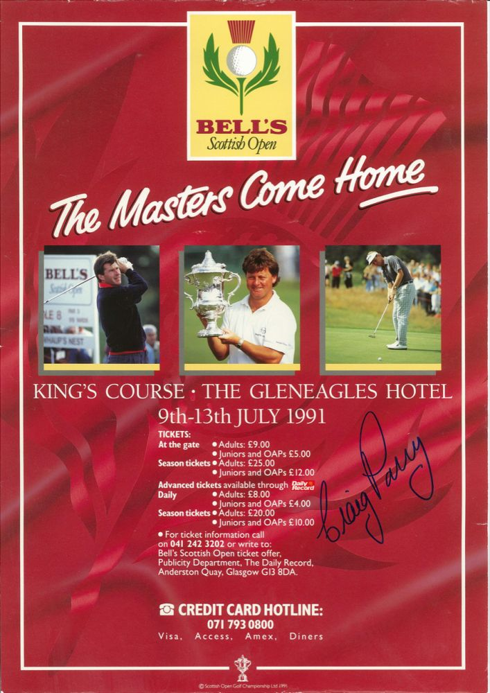 Bells Scottish Masters 1991. Poster.