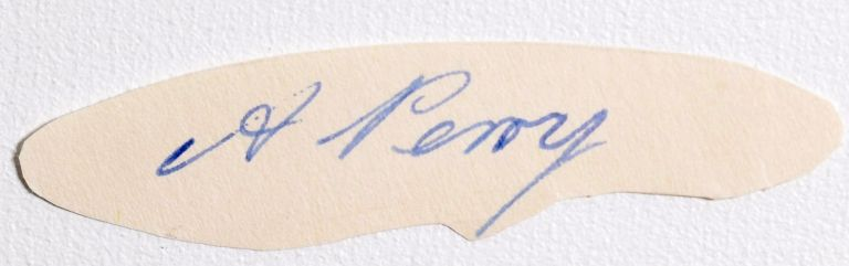 cut signature. Alfred Perry.