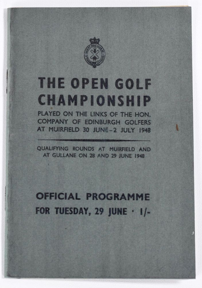 The Open Championship 1948. Official Programme. The Royal, Ancient Golf Club of St. Andrews.