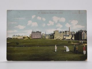 St. Andrews from The Links. Postcard