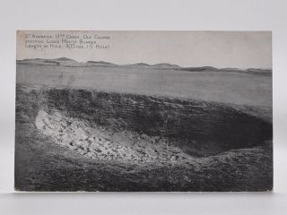 St. Andrews 13th Green. Old Course Showing Lions Mouth Bunker. Length of Hole; 403yds ( 5 Hole )....