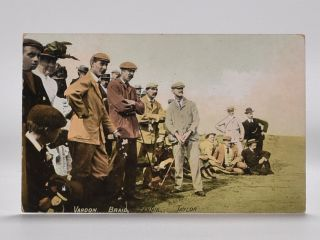 Vardon. Braid. Fernie. Taylor. Postcard.