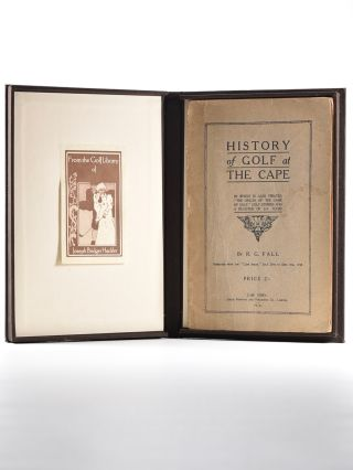 History of Golf at the Cape, in which is also treated ''The Origin of the Game of Golf,'' Golf...
