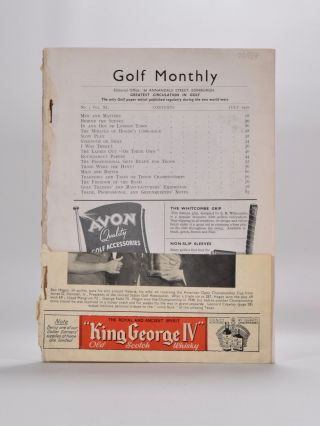 "Golf Monthly Volume 40 No. 7 July 1950. Golf Monthly ""Magazine"""