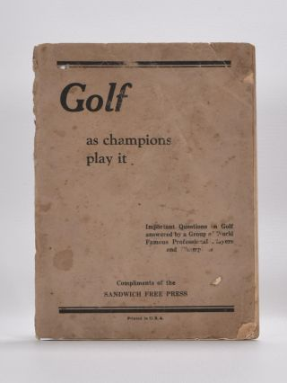 Golf as Champions Play it. Tommy Armour