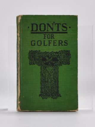 Don'ts for Golfers. Sandy Green.