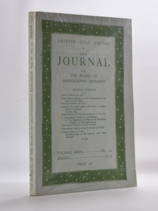 The Journal of The Board of Greenkeeping Research Vol. 4 No.12. British Golf Unions