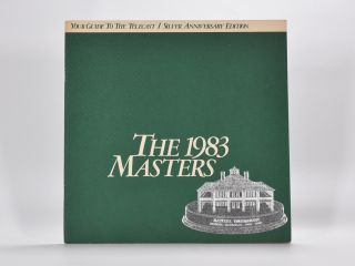 The 1983 Masters. Augusta National.