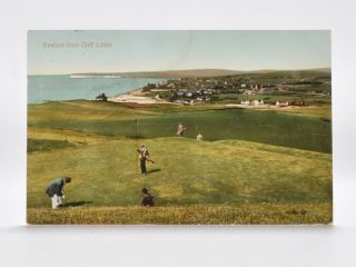 Seaford from the Golf Links. Postcard.