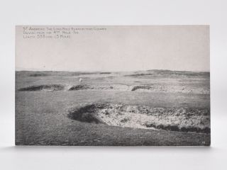 St. Andrews. The Long Hole Bunkers to be Cleared. Driving from the 4th Hole Tee. Length 533 YDS....