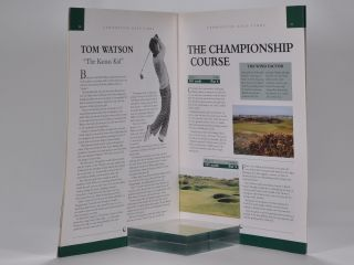 Tha Carnoustie Links a Tradition of Golfing Excellence.