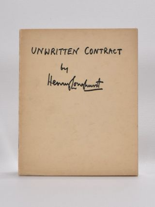 Unwritten Contract. Henry Longhurst