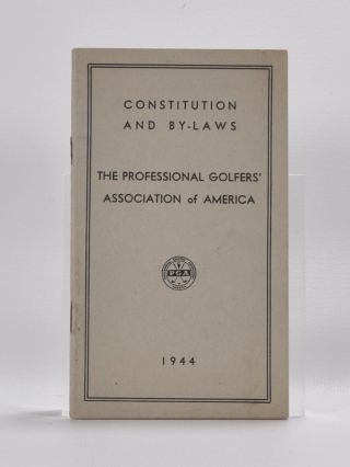Constitution and By Laws. Professional Golfers Association of America