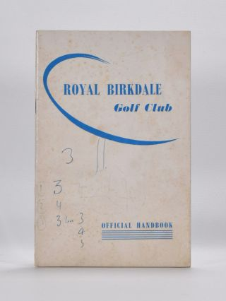 Royal Birkdale Golf Club. Handbook, Tom Scott