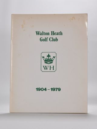Walton Heath Golf Club. Cyril O. B. E. Hewertson.