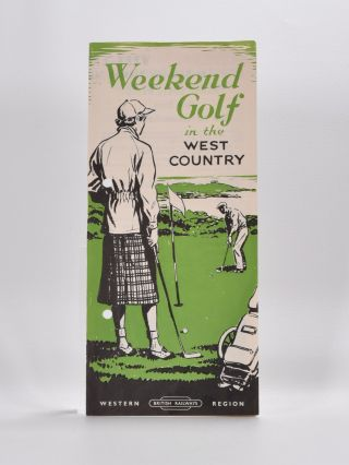 Weekend Golf in the West Country. British Railways.