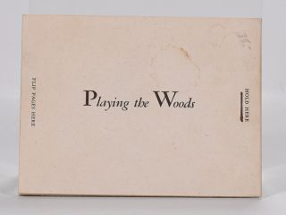 "Playing the Woods ""flip book"""