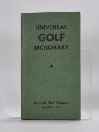 Universal Golf Dictionary