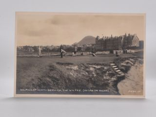 Golfing at North Berwick, the 16th Tee (Redanon Right) 215211.JV. Postcard