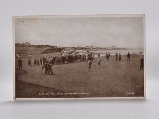 East Bay from Burgh Course, North Berwick 97085. Postcard