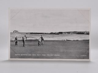 North Berwick and Bass Rock from the Old Course 4960. Postcard