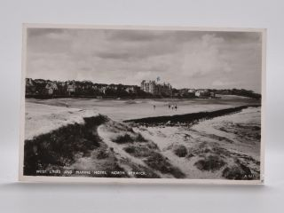 West Links and Marine Hotel, North Berwick 1521. Postcard