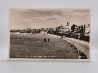 West Bay and Putting Green, North Berwick 7448. Postcard