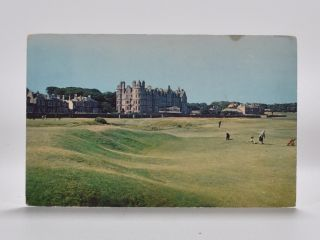 West Links and Marine Hotel North Berwick. Postcard