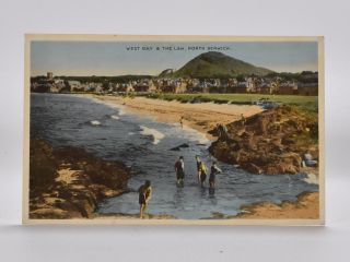 West Bay & The Law, North Berwick. Postcard