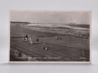 "Golfing at North Berwick ""The Hole Across"" 215210. Postcard"